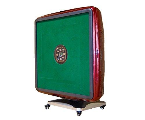 折り畳み式 全自動麻雀台 麻雀卓 牌サイズ 33mm パネル赤ワインレッド マット色も選べる!