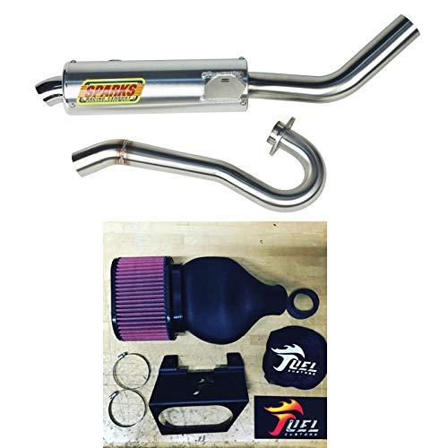 Sparks Racing X6 Race Core Exhaust Fuel Customs Intake Suzuki LTR450 2006-2011