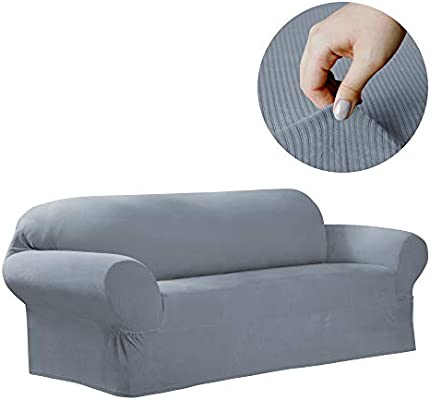 MAYTEX Collin Stretch 1-Piece Slipcover Sofa, Blue