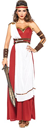 Womens Halloween Costume- Spartan Goddess Adult Costume Small-Medium