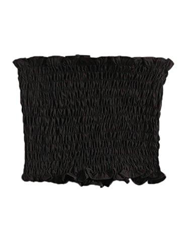 MakeMeChic Women's Sexy Strapless Bandeau Tube Crop Tops Black (Crop Tube)