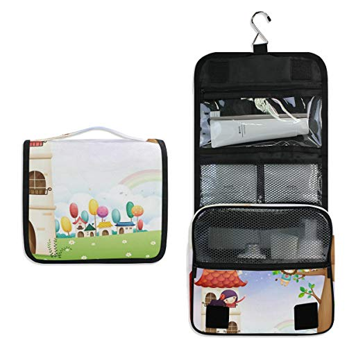 Girl In A Playhouse Hanging Travel Toiletry Bag for Women Men | Hygiene Bag | Bathroom and Shower Organizer for Toiletries, Cosmetics, Makeup, Brushes