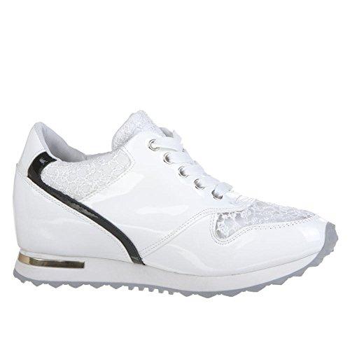 Ital baja Mujer blanco Caña Blanco Design YwqZz