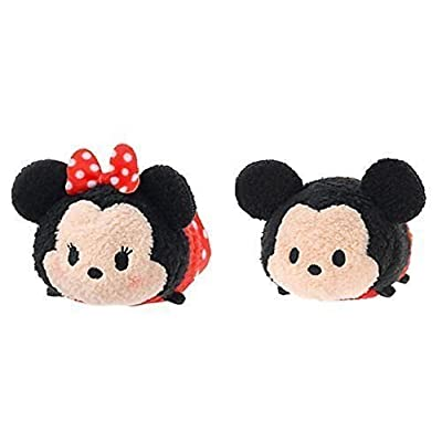 Mickey and Friends ''Tsum Tsum'' Mini Plush Collection Minnie Mouse and Mickey Mouse by Disney