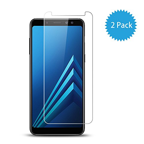 Vieykll For Samsung galaxy A8 2018 Screen Protector - [9H Hardness] [2pcs] 2.5D galaxy A8 Plus 2018 Tempered Glass Screen Protector (galaxy A8 Plus 2018)