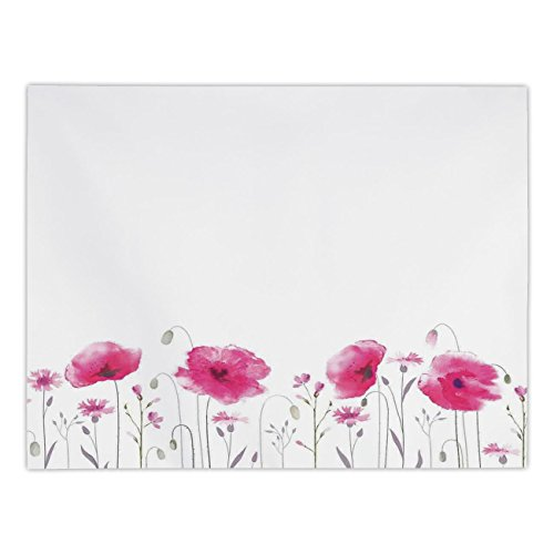 - Polyester Rectangular Tablecloth,Lake House Decor,Mass of Flower Glade with Poppy Petals Summer Garden Field Elements Artwork,Pink,Dining Room Kitchen Picnic Table Cloth Cover,for Outdoor Indoor