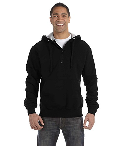 Champion Cotton Max Adult 1/4 Zip Hood, S185, XS, Black for sale  Delivered anywhere in Canada