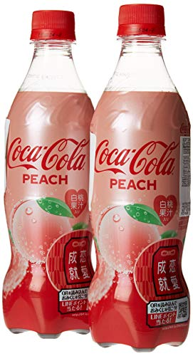 Coca-Cola Peach Flavor Coke 500ml Imported From Japan (Pack of 2) ()