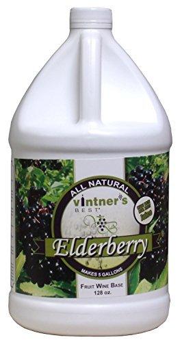 Vintner's Best - Elderberry Fruit Wine Base - 128 oz (1 Galllon) by LD Carlson