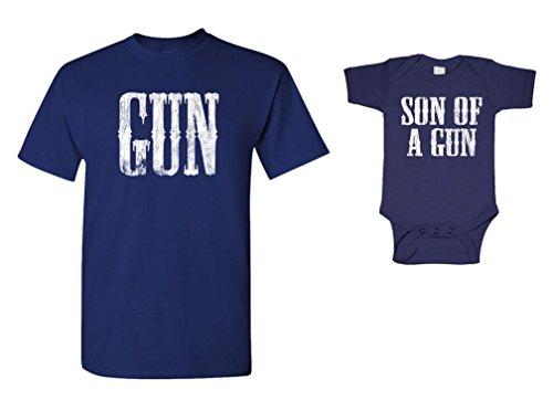 Guacamole Gun & Son A Gun Cute - T-Shirt & Bodysuit Combo, 3XL Adult, 6M Baby, -