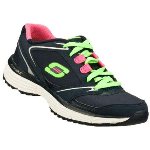 Skechers Sport Womens Rewind Fashion Sneaker Blu / Verde-nvgr