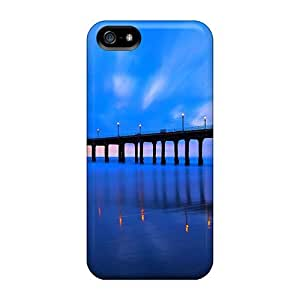 For TianMao Iphone Protective Case, High Quality For Iphone 5/5s Lighted Pier Skin Case Cover