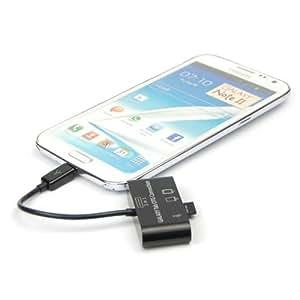 LanLan 3in1 USB Connection Kit HUB SD MMC TF Card Reader Adapter For OTG Mobile Phone