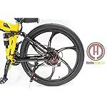 HYLH-48V-500W-in-Lega-di-magnesio-Ruota-Integrale-Ebike-Giallo-Pieghevole-Telaio-Elettrico-Bicicletta-con-Display-LCD