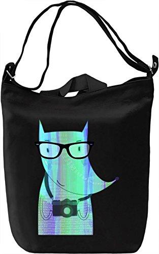 Tourist Fox Borsa Giornaliera Canvas Canvas Day Bag| 100% Premium Cotton Canvas| DTG Printing|
