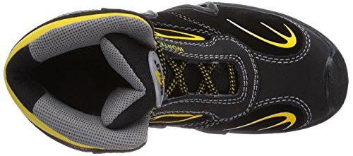 Wortec Harrison Mid S3 - Calzado de protección Unisex adulto Negro/Amarillo