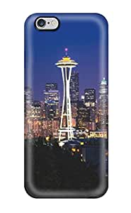 Durable Protector Case Cover With Seattle Skyline Night Hot Design For Iphone 6 Plus