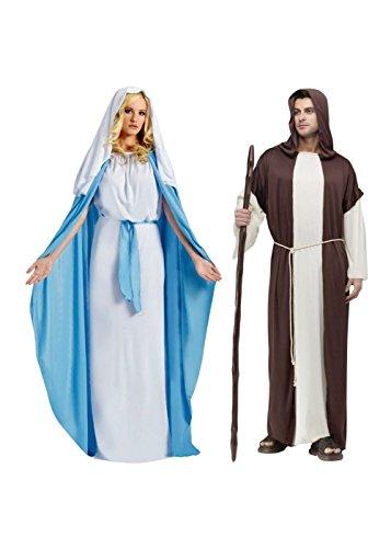 Biblical Virgin Mary Woman and Saint Joseph Man (Adult Saint Joseph Costumes)