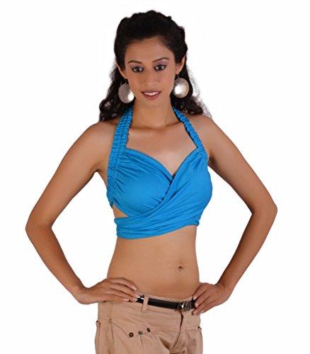 Jaipur Kala Kendra - Camisas - para mujer azul celeste