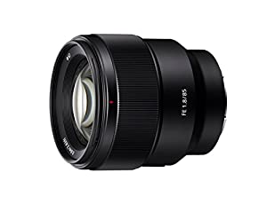 Sony SEL85F18 85mm F/1.8-22 Medium-Telephoto Fixed Prime Camera Lens, Black | Protection Filter