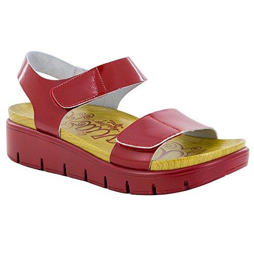 Alegria Women's Playa Duo Red Patent Sandal (PLA-104D) Size: Euro 36 \ US 6-6.5