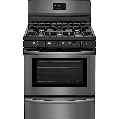 Frigidaire FFGF3052TD 30 Inch Freestanding Gas Range with 5 Burners, Sealed Cooktop, 4.2 cu. ft. Primary Oven Capacity, in Black Stainless ()