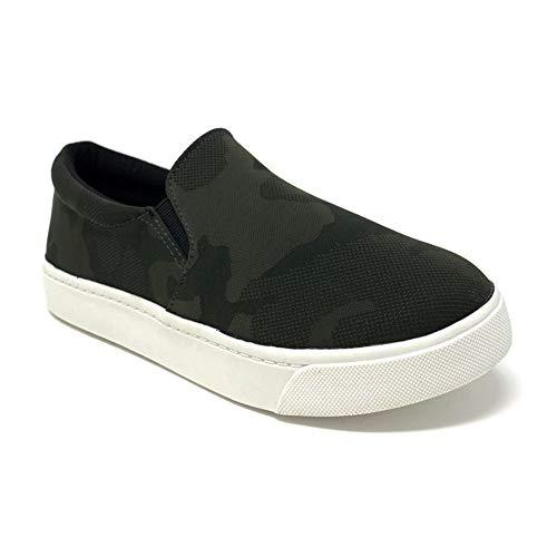 SODA Womens Preforated Slip On Sneakers Khaki Camo,  Khaki Camo, 6.5 M US