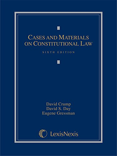 Cases And Materials On Constitutional Law (2014)