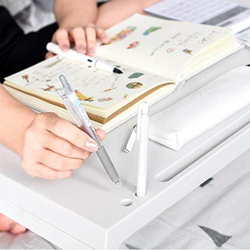 LIULIFE Bed Table Tray - Foldable Breakfast Serving Tray for Kids Eating, Laptop Computer Desk for Sofa, Portable Outdoor Camping Stand with Floding Legs,White-54.535.5cm by LIULIFE (Image #2)