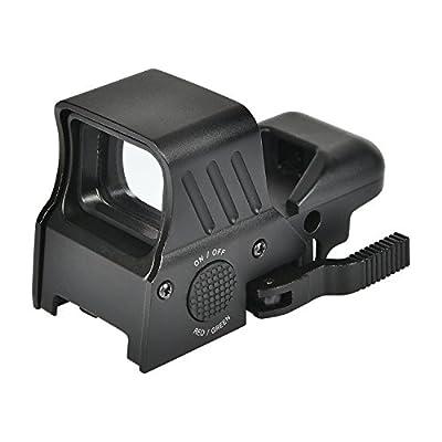 MidTen 1X22X32 Updated Red Green Dot Sight 4 Reticles Reflex Sight Quick Detach Mount 20mm Rail