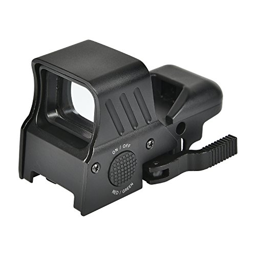 MidTen 1X22X32 Red Green Dot Sight 4 Reticles Reflex Sight with Quick Detach Mount 20mm Rail by MidTen