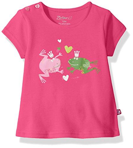 Zutano Baby Girls' Short Sleeve Swing T-Shirt, Hop to Love, 24M (18-24 Months)