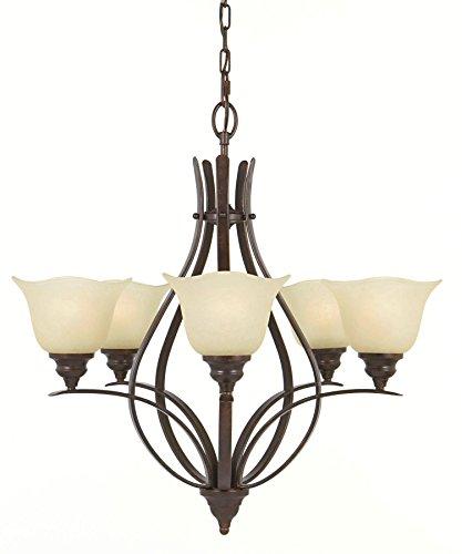 Feiss F2055/5GBZ Morningside Chandelier Lighting, Bronze, 5-Light (26