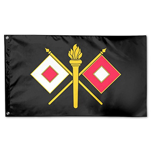 US Army Signal Corps Logo Garden Flag 3 X 5 Flag For House Decor Banner Black