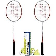 Yonex B-350 (2 Rackets) and 1 tube of Mavis Shuttlecock Badminton Combo Set