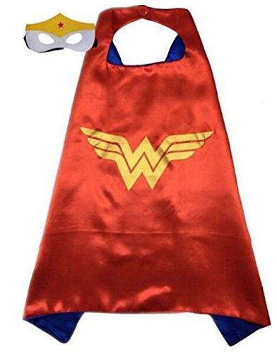 Kids Superhero Cape & Mask Boy Girl Party Costume Set Superman Batman Spiderman Wonderwoman Cape+Mask set