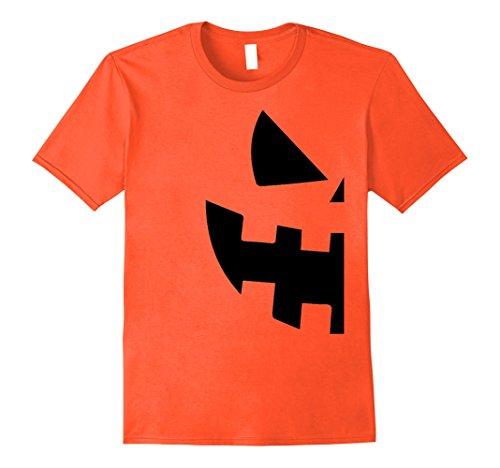 Mens Halloween Jackolantern T Shirt - Couples Halloween Costume Large Orange