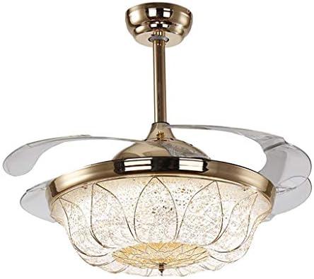 RRC-Lámpara Araña, Control Remoto Invisible LED + Ventilador de Techo montado en la Pared Araña, Restaurante en casa Sala de Estar Minimalista Moderno Fashion Chandelier Iluminación Interior: Amazon.es: Hogar