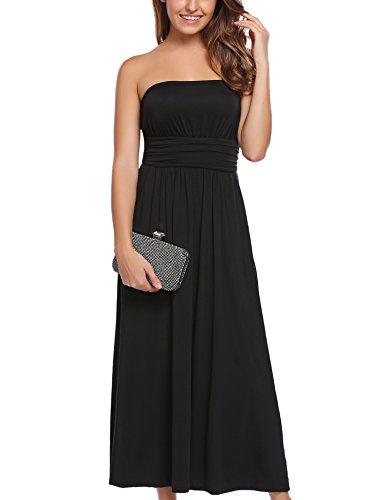 long black maxi dress strapless - 7