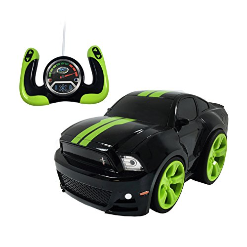 Remote Control Ford Mustang - Bandit Black With Green Stripes