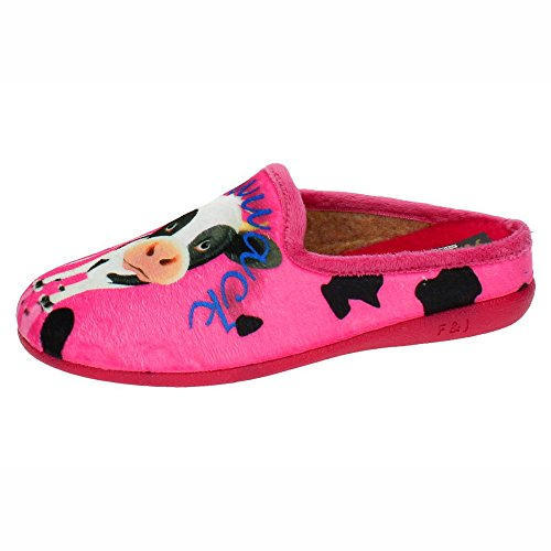Vache Chaussures nbsp;Chinelas ZAPATOP Femme Fuchsia Maison 3002 qfBBPE