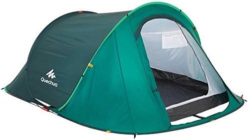 QUECHUA 2 Seconds Camping Tienda de campaña 3 Personas Verde ...