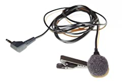 """The high fidelity Omnidirectional microphone capsule is in a factory assembled housing with a durable, removable alligator clip with a black finish. This mic is designed specifically for use with the """"mic input"""" jack that provides """"plug-in po..."""
