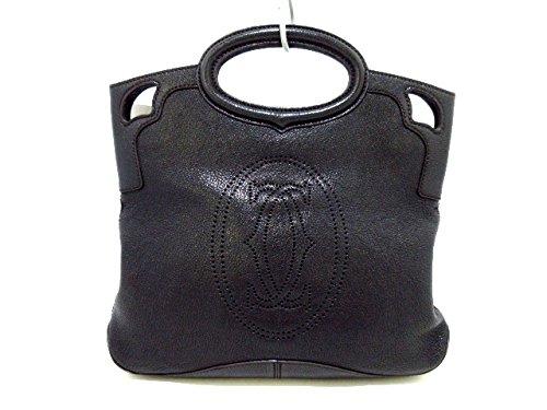 (カルティエ) Cartier トートバッグ マルチェロ 黒 【中古】 B07FSJ52H1  -