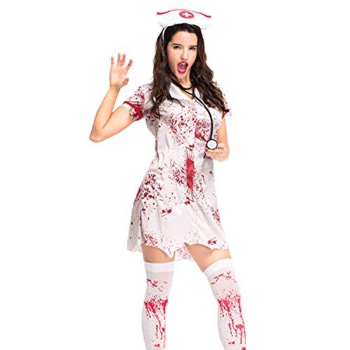 Jiyaru Halloween Bloody Nurse Uniform Bloody Costume Cosplay
