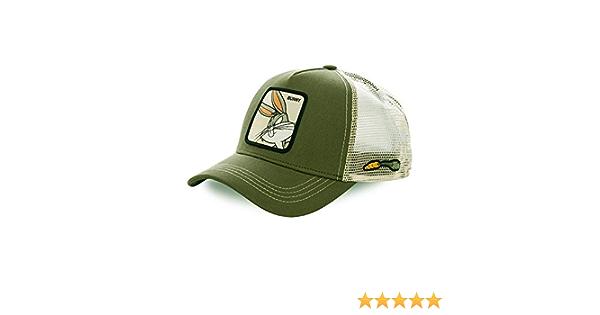 Collabs Gorra Bugs Bunny Trucker Cap colecci/ón Looney Tunes Color Blanco y verde Talla /única y Unisex