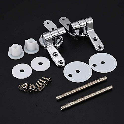Alloy Replacement Toilet Seat Hinges Mountings Set Chrome with Fittings Screws For Toilet Accessories
