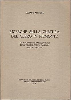 Book Ricerche sulla cultura del clero in Piemonte