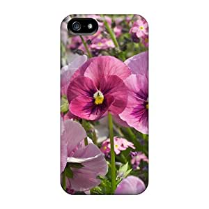 Protection Cases For Iphone 5/5s / Cases Covers For Iphone(pink Flowers In The Field)