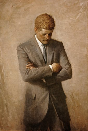 Posthumous Official Presidential Portrait of U.S. President John F. Kennedy Photo Historical American Photos -